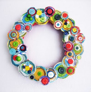 Bright Button Wreath