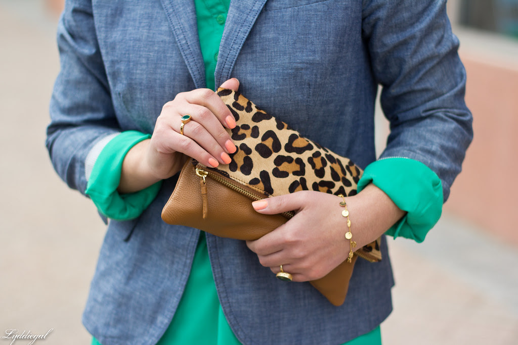 Emerald Dress, Chambray Blazer, Leopard-4.jpg