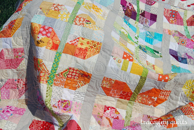quilted scrappy sprouts