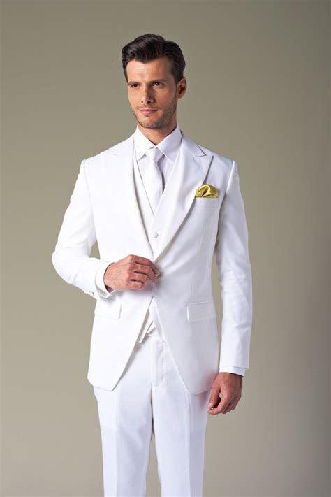 2013 men's White wedding tuxedo Groom wear /mens complete