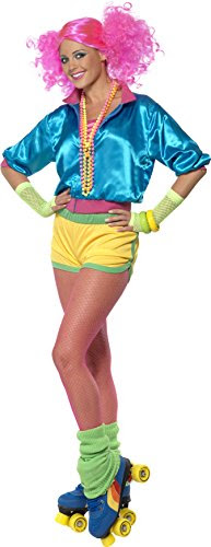 Smiffy's Women's Skater Girl Costume Neon