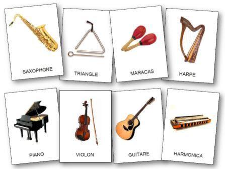 Instrumenty muzyczne - słownictwo 1 - Francuski przy kawie