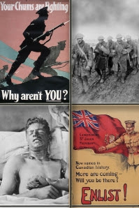 Canada and the First World War| adapted from LAC CC images