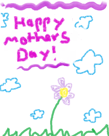 English: Mother's Day card