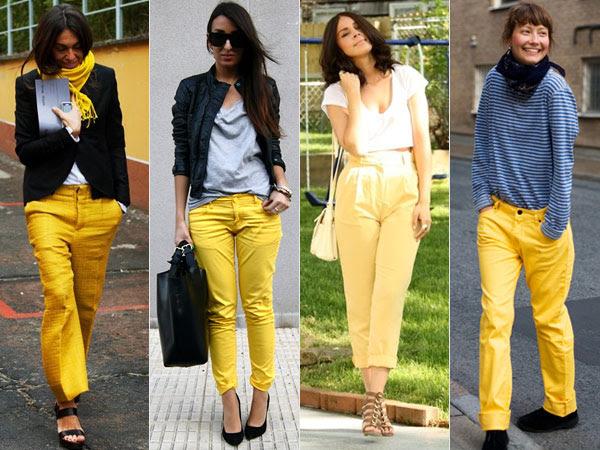 Resultado de imagem para como usar calça comprida colorida