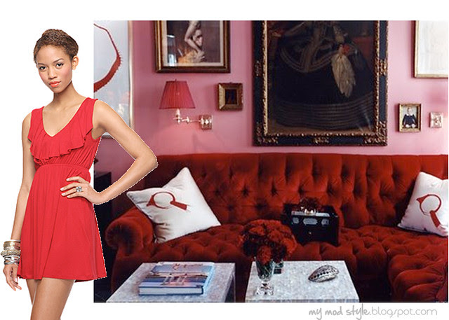 dress and room red