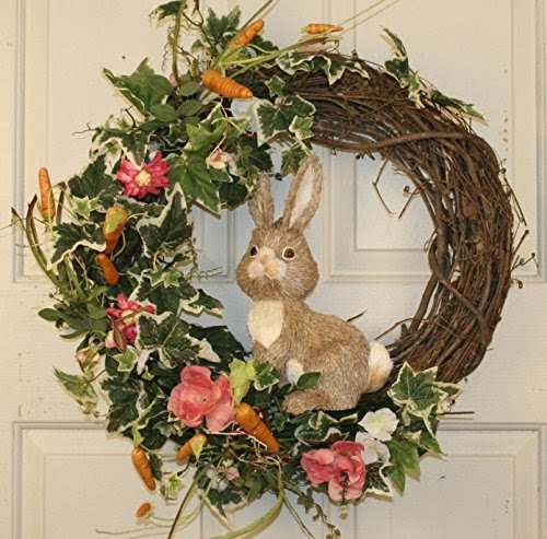 Easter Bunny Grapevine Wreaths Easter Wikii
