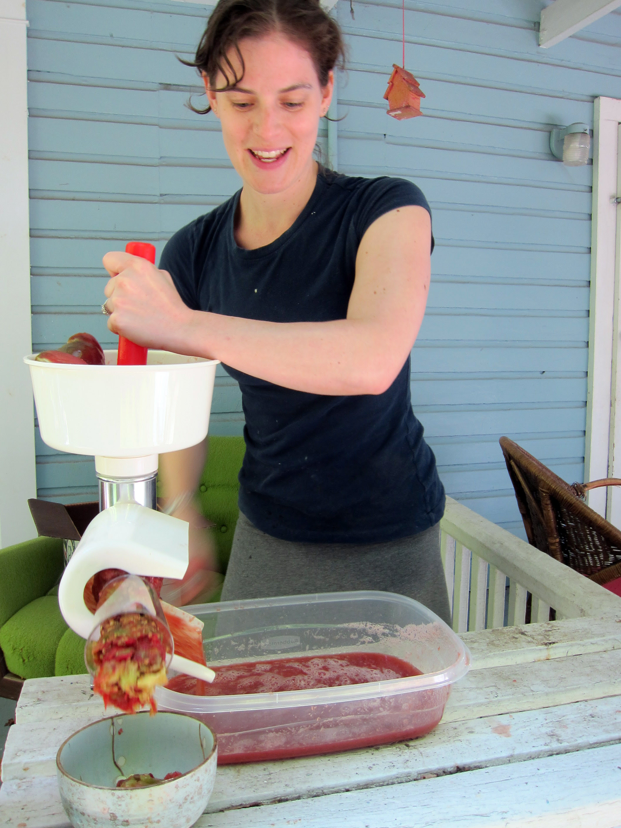How to make and can tomato sauce using a food mill   FreshStitches