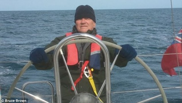 Keeping it in the family: Retired meeting manager Bruce Brown, 77, says he intends to keep his father's momentous 100-year-old Titanic photograph
