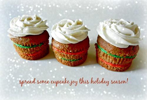 Layered Christmas Cupcakes