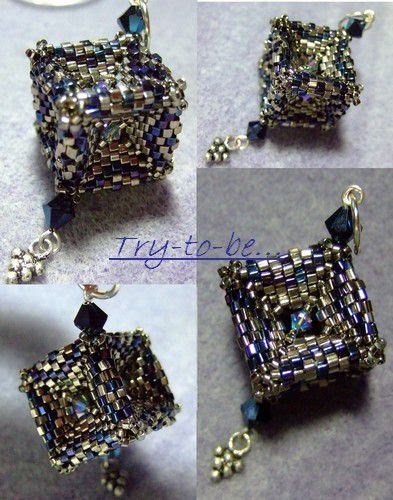 3d peyote cube - (Russian) detailed step by step.  #seed #bead #tutorial