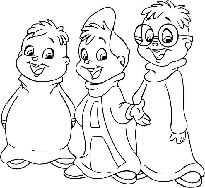 Dibujo Para Colorear Películas En Los Cines Alvin And The Chipmunks 1