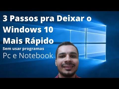 Como Deixar o Windows 10 Mais Rápido sem baixar programas - 3 Passos