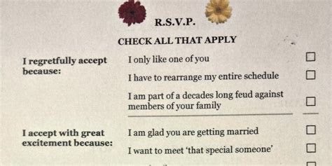 This Wedding Response Card Is The Funniest Thing You'll