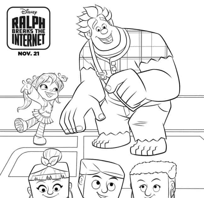 35 Ralph Breaks The Internet Coloring Pages - Mihrimahasya ...