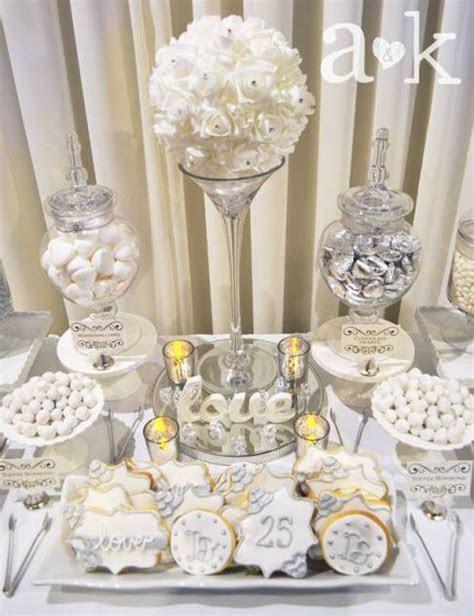 Silver Wedding Anniversary Dessert Buffet by A   silver in