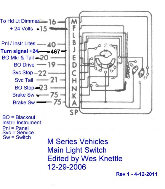 Willys M Jeeps Forums Viewtopic Making A 24 Volt Wiring Harness For An M38 Jeep