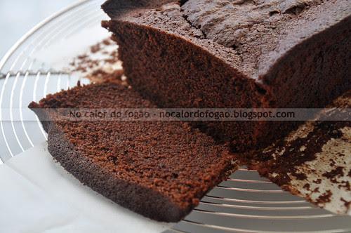 Bolo de chocolate da Nigella na versão loaf