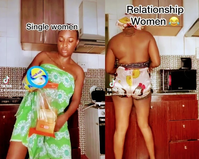 Reactions As Lady Demonstrates How Some Ladies Act When They Are Not In Any Relationship (Photos)