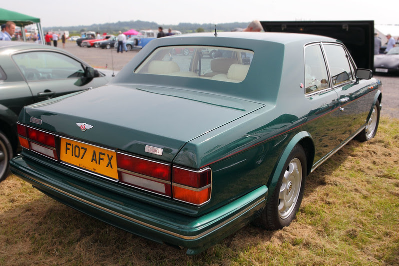 Bentley Turbo R Hooper Coupe, rear three quarter view, c1987