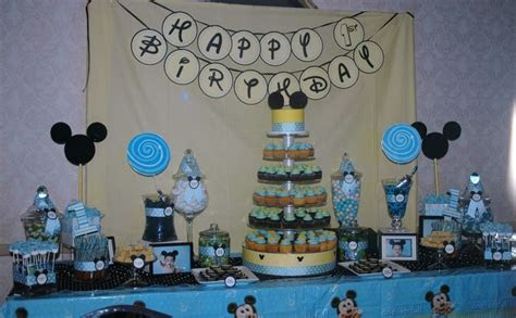 Treat Me Sweet: Mickey Mouse 1st Birthday Dessert Table