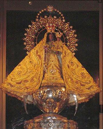 Imagen original de la Virgen de la Caridad en el Santuario del Cobre