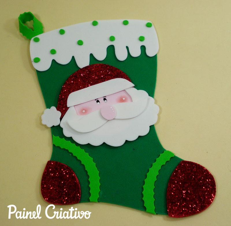 enfeite natal bota papai noel EVA decoracao natalina casa sala de aula escola (1)