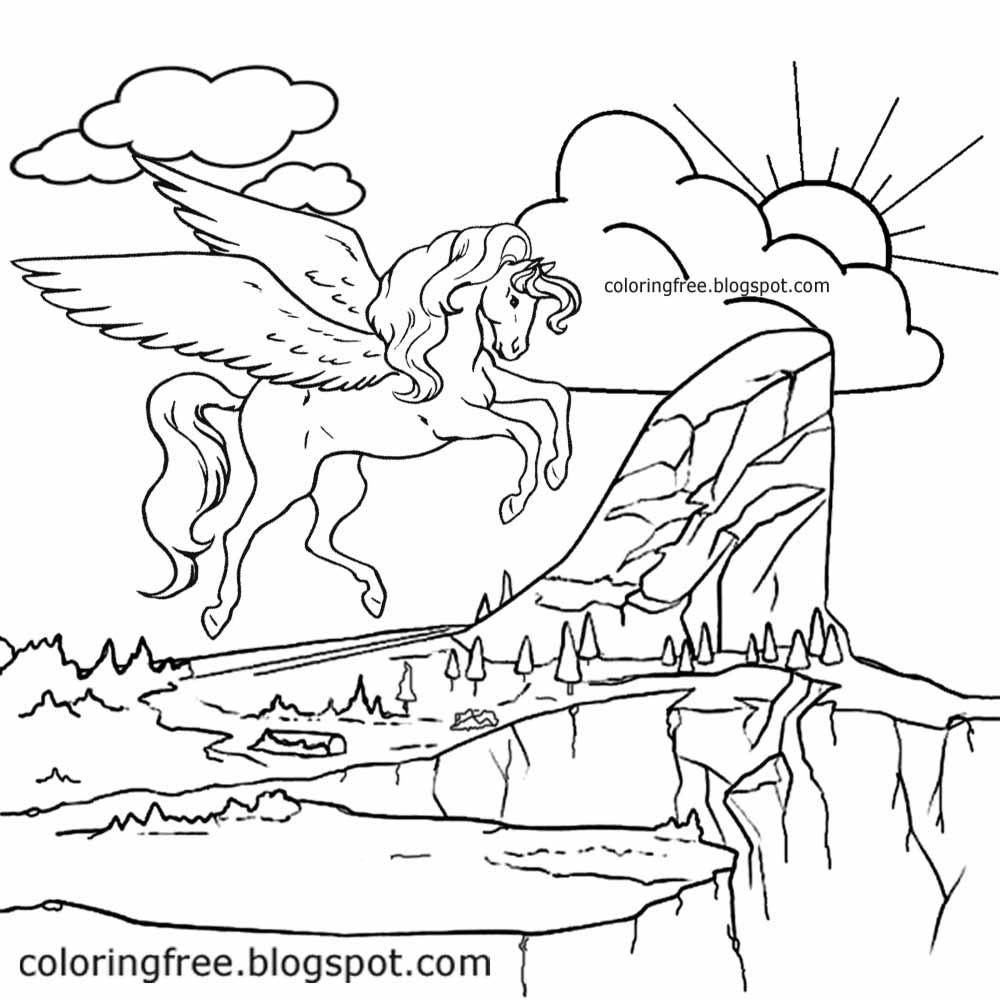 unicorn malvorlagen free