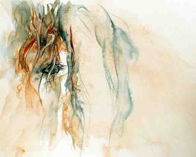 Percy - an 8 x 10 inch print of my original watercolor painting of a fun little fuzzy horse - tapestry316