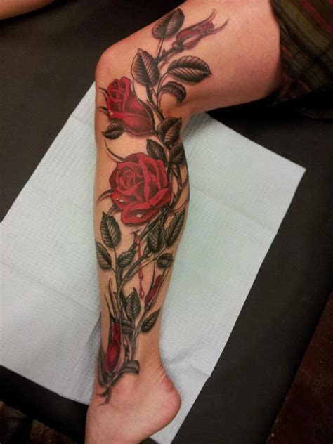ronis tat leg tattoos tattoos women rose tattoos