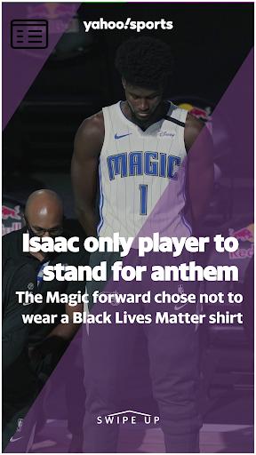 Avatar of Jonathan Isaac first NBA player to stand, not wear Black Lives Matter shirt during national anthem