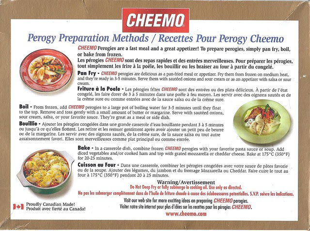Cheemo cooking instructions