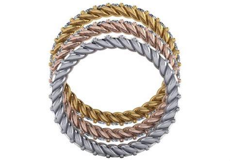 twisted rope pave set eternity wedding band