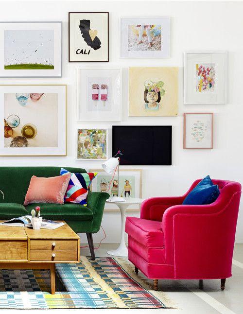 Gallery Wall in Oh Joy's Studio