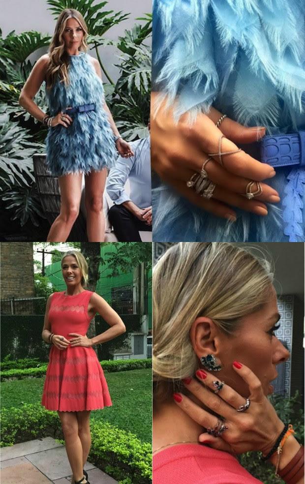 Adriane Galisteu usa anéis em todos os dedos. Modelos de prata, ouro amarelo, rosé e com pedras são os hits da modelo (Foto: Reprodução do Instagram)