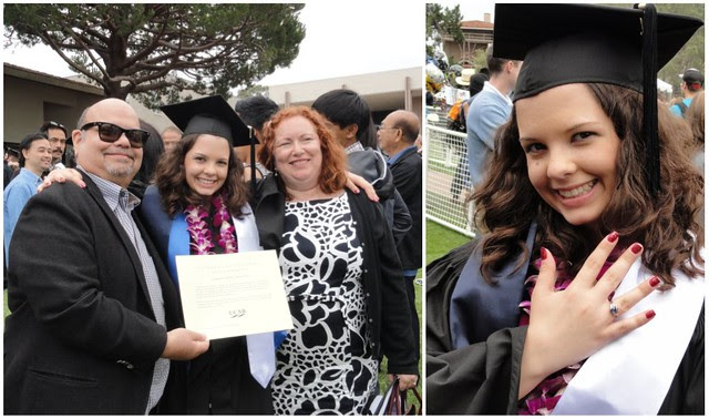 Emily UCSB Grad collage Dad/Becky & Class Ring