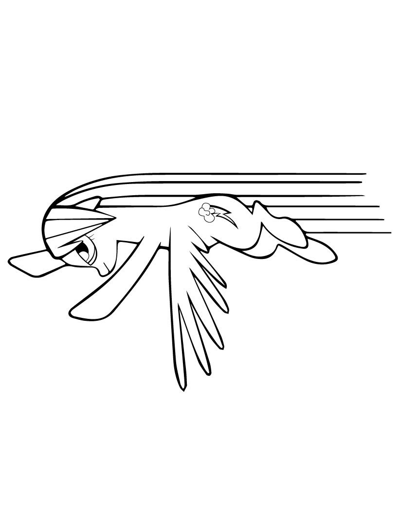 My Little Pony Rainbow Dash Fly Coloring Page - My Little ...