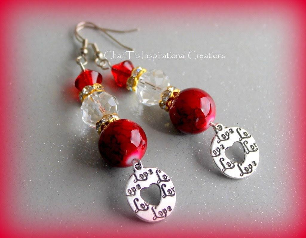 Red Circle of Love Earrings