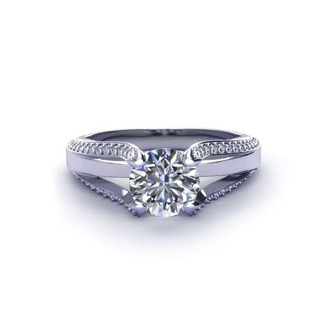 Split Diamond Engagement Ring   Jewelry Designs