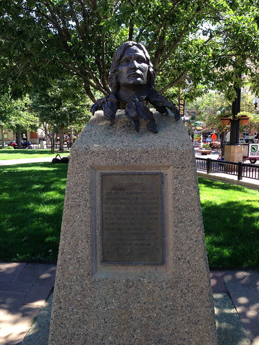 Arapahoe Indian tribute, Pearl St. Mall, Boulder