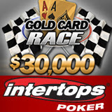 Intertops Poker Gold Card Race Awarding 30K Weekly