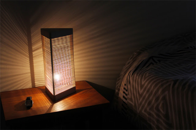 Delta Lamp: A Customizable Light Made from Rubber Bands  rubber bands lighting
