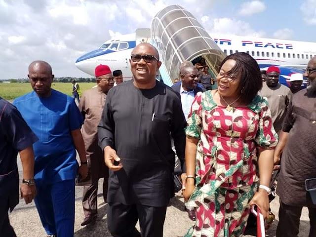 Peter Obi Arrives Enugu, On A Visit To Ugwuanyi (Photos)