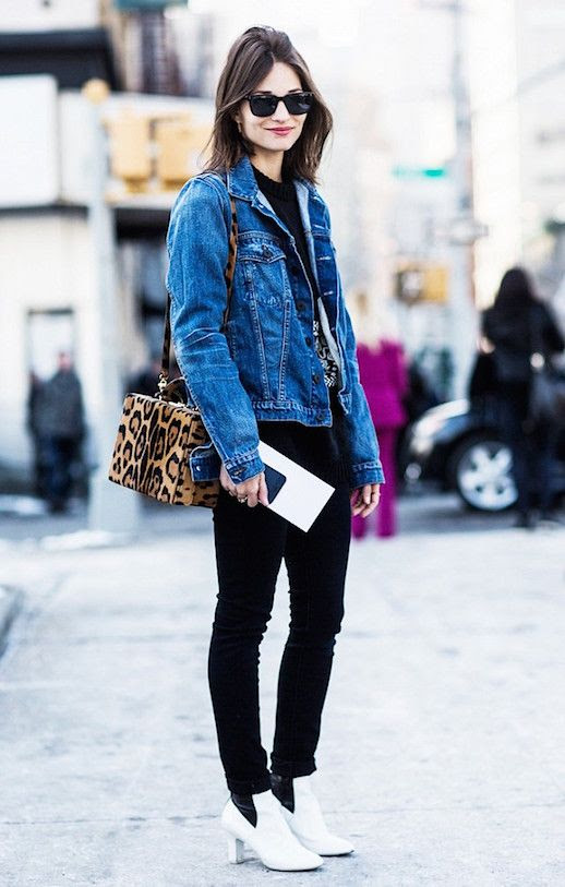 Le Fashion Blog Jean Jacket Graphic T Shirt 9 Pairs Of White Boots To Buy Now Via A Love Is Blind