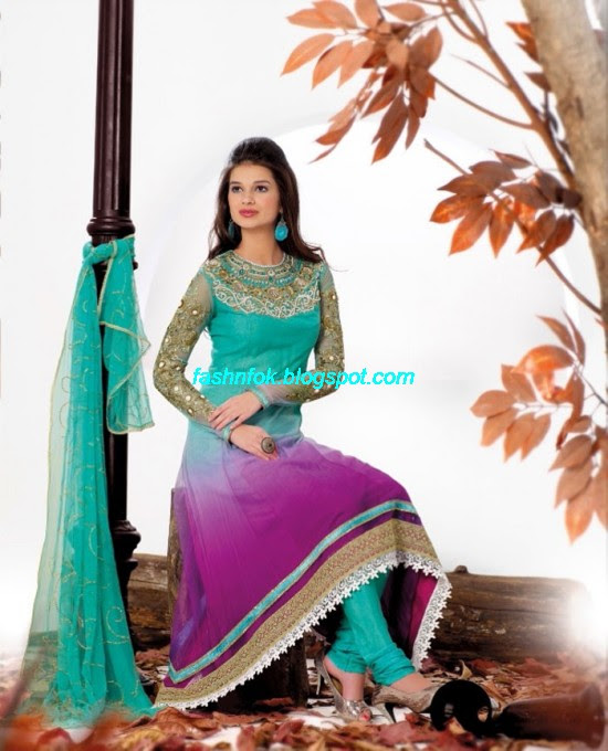 Anarkali-Churidar-Festival-Frocks-Fancy-Dress-Designs-New-Fashionable-Suits-Collection-2013-4