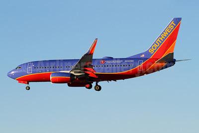 Southwest Airlines Boeing 737-7H4 WL N240WN (msn 32503) (Live in the Vineyard) SAN (James Helbock). Image: 909962.