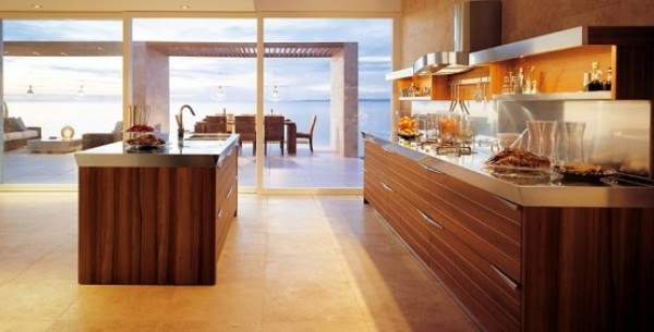 Contemporary Modern Minimalist Wooden Kitchen Design Gallery ...