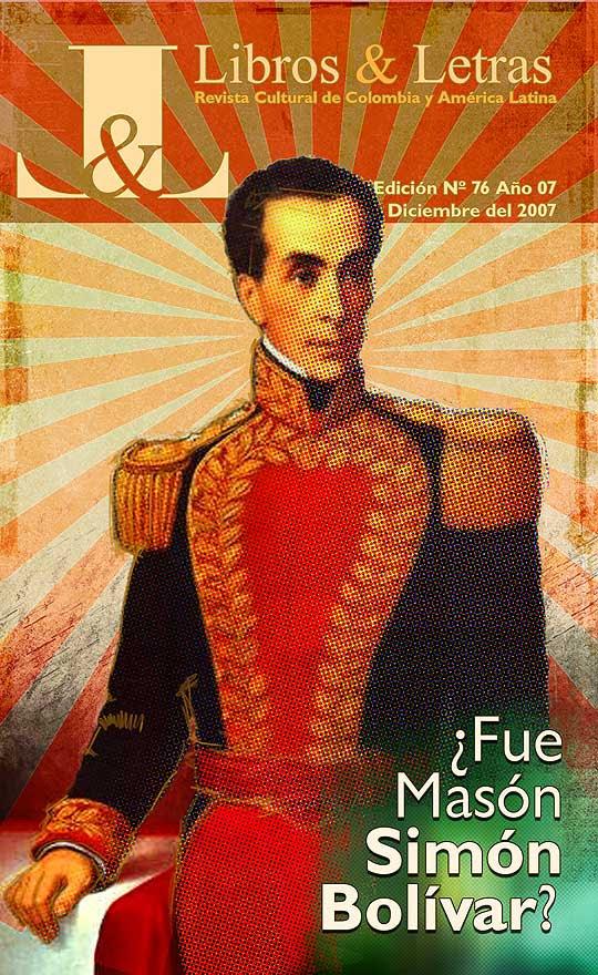 Retrato de Simón Bolívar, Ilustración y diseño de portada para la revista Libros y Letras por Hache Holguin