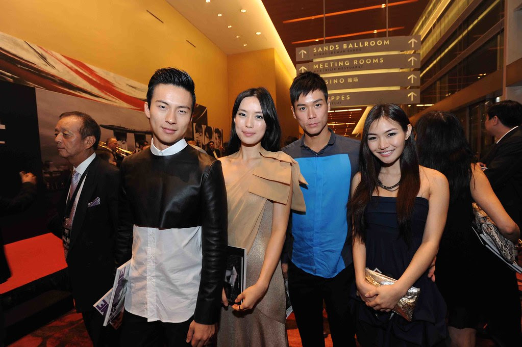 Mr. Nat Ho, Ms. Rebecca Lim, Mr. Andie Chen and guest