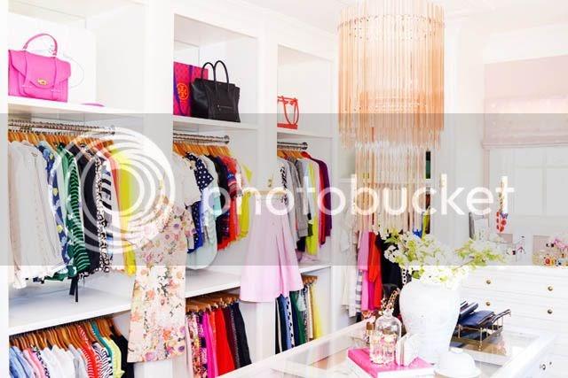 Marcus design closet tour pink peonies for Rachel parcell closet